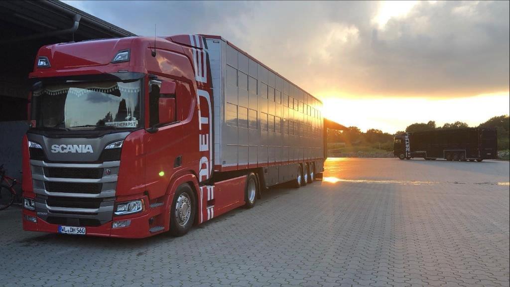 LKW-Scania-rot-Sonnenuntergang_2021-10